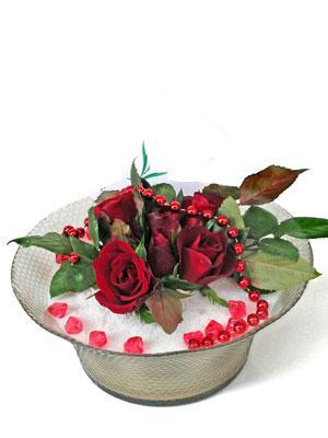 Kırklareli çiçek gönderme sitemiz güvenlidir  EN ÇOK Sevenlere 7 adet kirmizi gül mika yada cam tanzim