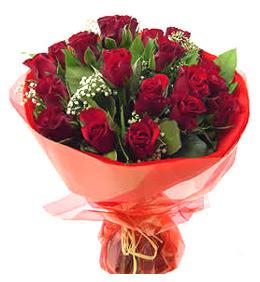 Kırklareli ucuz çiçek gönder  11 adet kimizi gülün ihtisami buket modeli