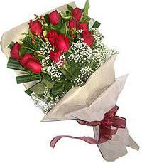 11 adet kirmizi güllerden özel buket  Kırklareli İnternetten çiçek siparişi