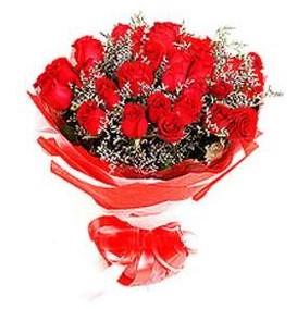 Kırklareli internetten çiçek satışı  12 adet kırmızı güllerden görsel buket