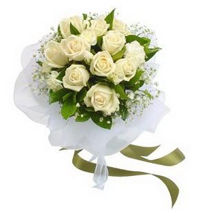 Kırklareli online çiçek gönderme sipariş  11 adet benbeyaz güllerden buket