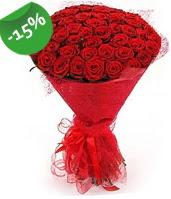 51 adet kırmızı gül buketi özel hissedenlere  Kırklareli yurtiçi ve yurtdışı çiçek siparişi