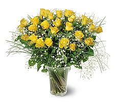 Kırklareli yurtiçi ve yurtdışı çiçek siparişi  15 adet sarigül mika yada cam vazoda