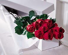 Kırklareli çiçek online çiçek siparişi  özel kutuda 12 adet gül