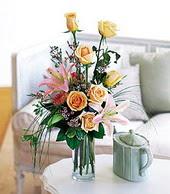 Kırklareli çiçek servisi , çiçekçi adresleri  cam yada mika vazo içerisinde gül kazablanka
