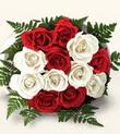 Kırklareli çiçek servisi , çiçekçi adresleri  10 adet kirmizi beyaz güller - anneler günü için ideal seçimdir -