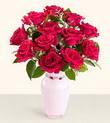 Kırklareli kaliteli taze ve ucuz çiçekler  10 kirmizi gül cam yada mika vazo tanzim