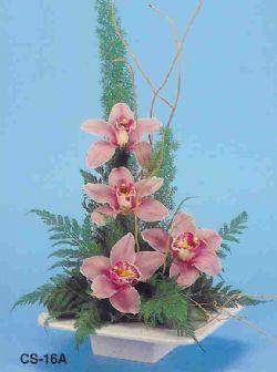 Kırklareli hediye sevgilime hediye çiçek  vazoda 4 adet orkide