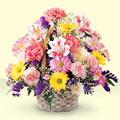 Kırklareli çiçek satışı  sepet içerisinde gül ve mevsim