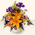 Kırklareli çiçek , çiçekçi , çiçekçilik  sepet içinde karisik çiçekler
