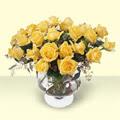 Kırklareli hediye sevgilime hediye çiçek  11 adet sari gül cam yada mika vazo içinde