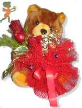 oyuncak ayi ve gül tanzim  Kırklareli çiçek yolla , çiçek gönder , çiçekçi