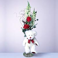 2 adet gül ve panda özel  Kırklareli güvenli kaliteli hızlı çiçek