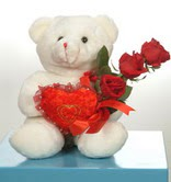 3 adetgül ve oyuncak   Kırklareli online çiçek gönderme sipariş