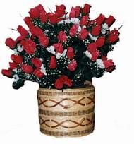 yapay kirmizi güller sepeti   Kırklareli çiçekçiler