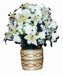 yapay karisik çiçek sepeti   Kırklareli internetten çiçek satışı