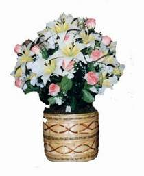 yapay karisik çiçek sepeti   Kırklareli çiçek siparişi sitesi