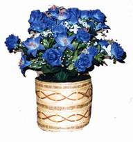 yapay mavi çiçek sepeti  Kırklareli çiçekçi telefonları
