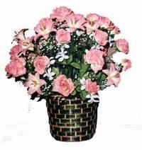 yapay karisik çiçek sepeti  Kırklareli çiçekçi mağazası