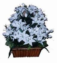 yapay karisik çiçek sepeti   Kırklareli çiçek yolla