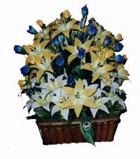yapay karisik çiçek sepeti   Kırklareli anneler günü çiçek yolla