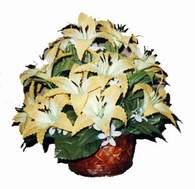 yapay karisik çiçek sepeti   Kırklareli yurtiçi ve yurtdışı çiçek siparişi