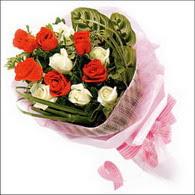 5 kirmizi 5 beyaz güllerden   Kırklareli çiçek yolla