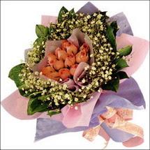 11  adet  gül ve   elyaflar   Kırklareli güvenli kaliteli hızlı çiçek