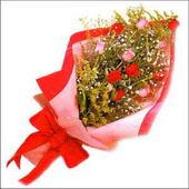 12 adet renkli  gül buketi   Kırklareli güvenli kaliteli hızlı çiçek
