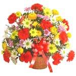 karisik renkli çiçek sepet   Kırklareli uluslararası çiçek gönderme