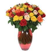 51 adet gül ve kaliteli vazo   Kırklareli uluslararası çiçek gönderme