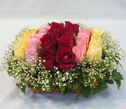 15 adet reprenkli gül sepeti   Kırklareli 14 şubat sevgililer günü çiçek