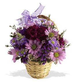 Kırklareli çiçek satışı  sepet içerisinde krizantem çiçekleri