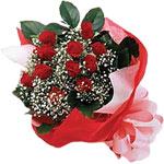 Kırklareli online çiçekçi , çiçek siparişi  KIRMIZI AMBALAJ BUKETINDE 12 ADET GÜL