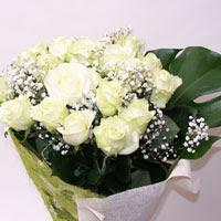 Kırklareli kaliteli taze ve ucuz çiçekler  11 adet sade beyaz gül buketi