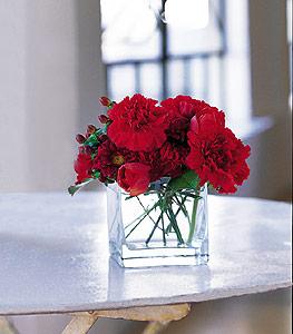 Kırklareli çiçek mağazası , çiçekçi adresleri  kirmizinin sihri cam içinde görsel sade çiçekler