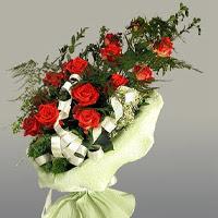 Kırklareli çiçek mağazası , çiçekçi adresleri  11 adet kirmizi gül buketi sade haldedir