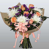 güller ve kir çiçekleri demeti   Kırklareli çiçek yolla , çiçek gönder , çiçekçi