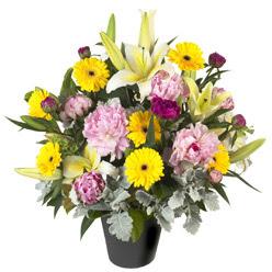 karisik mevsim çiçeklerinden vazo tanzimi  Kırklareli çiçek satışı