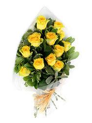 Kırklareli internetten çiçek siparişi  12 li sari gül buketi.