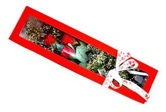 Kırklareli kaliteli taze ve ucuz çiçekler  Kutuda 3 adet gül