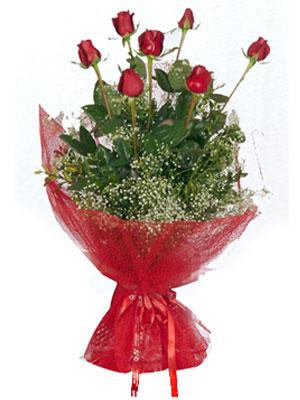 Kırklareli çiçek siparişi sitesi  7 adet gülden buket görsel sik sadelik