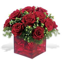 Kırklareli 14 şubat sevgililer günü çiçek  9 adet kirmizi gül cam yada mika vazoda