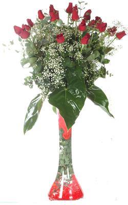 Kırklareli çiçek satışı  19 ADET GÜL VE FIL CAM AYAGI