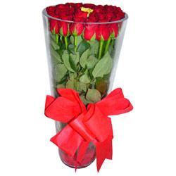 Kırklareli çiçekçi mağazası  12 adet kirmizi gül cam yada mika vazo tanzim