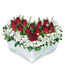Kırklareli İnternetten çiçek siparişi  mika kalp içerisinde 9 adet kirmizi gül