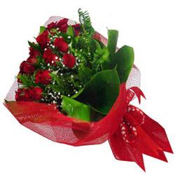 Kırklareli çiçekçiler  12 adet kirmizi essiz gül buketi - SEVENE ÖZEL