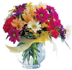 Kırklareli online çiçekçi , çiçek siparişi  cam yada mika içerisinde karisik mevsim çiçekleri