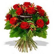 9 adet kirmizi gül ve kir çiçekleri  Kırklareli online çiçekçi , çiçek siparişi