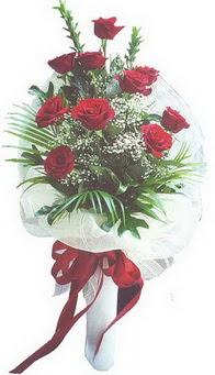 Kırklareli kaliteli taze ve ucuz çiçekler  10 adet kirmizi gülden buket tanzimi özel anlara